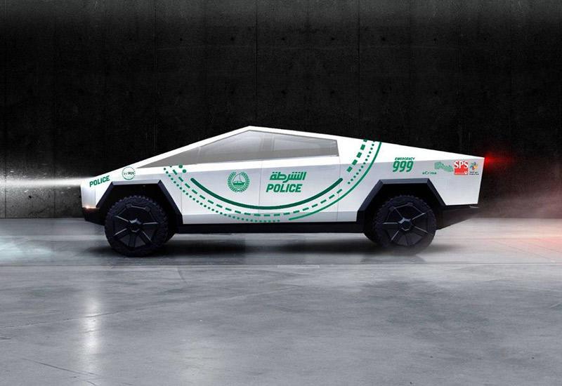 Dubai police, Tesla, Tesla Cybertruck