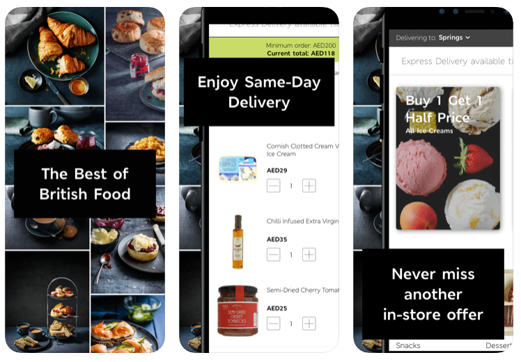Marks & Spencer, Food app, Food