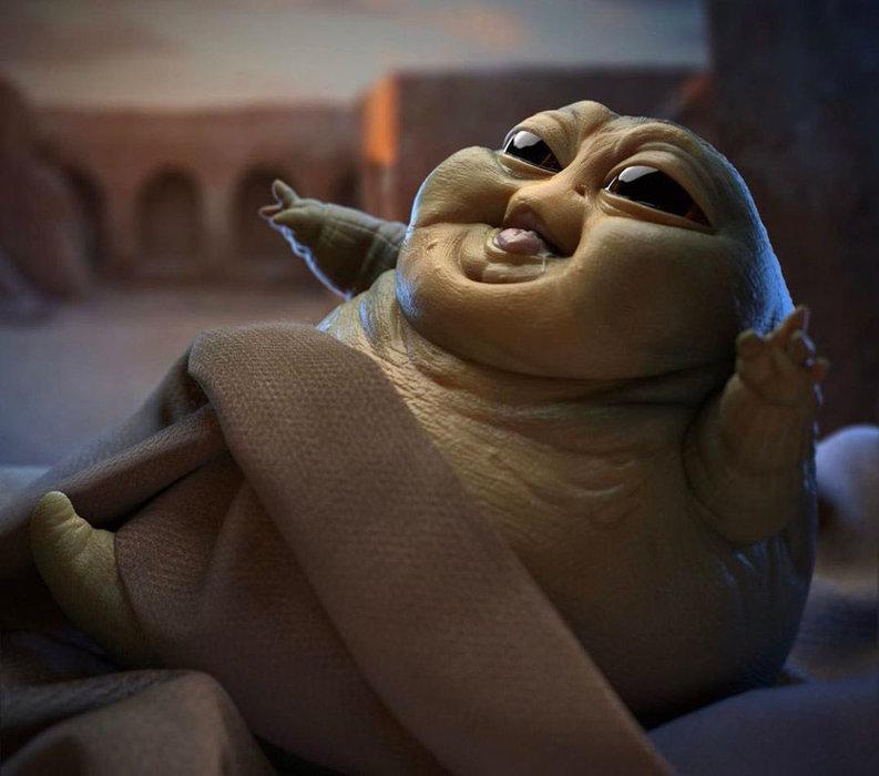 Baby Yoda, Baby Jabba, Disney, Disney+, Star Wars Babies, Star wars, TV