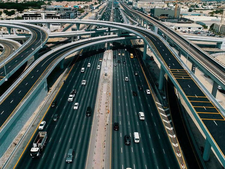 UAE, Sharjah, Roads, Traffic