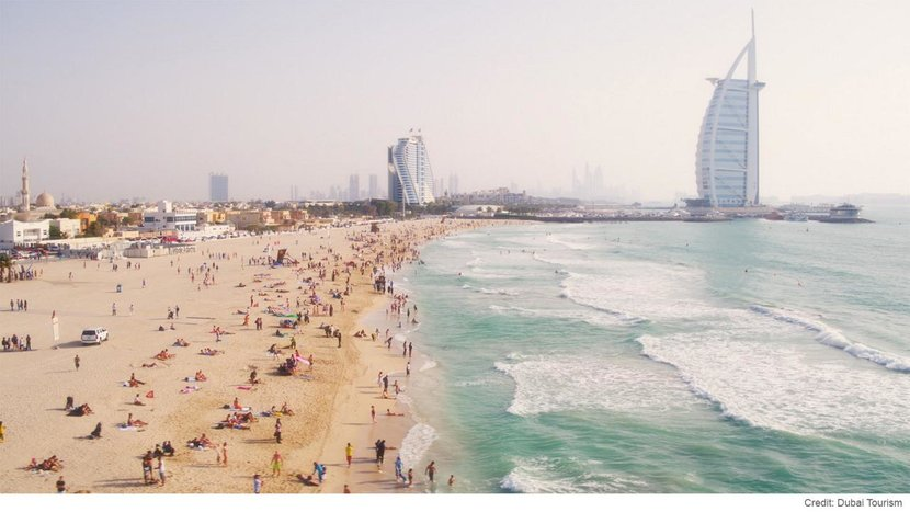 Covid-19, Dubai beach, Beaches