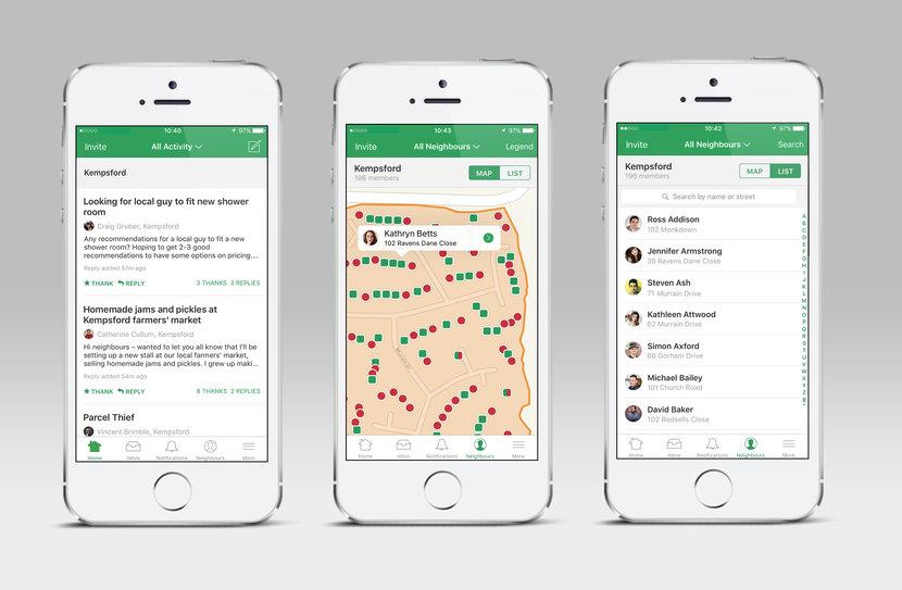 Nextdoor, Apps