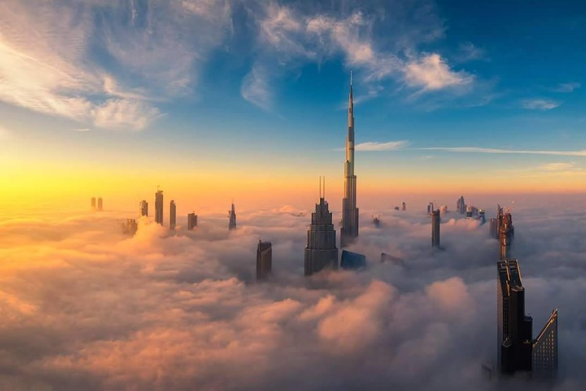 Dubai Marina, Fog, Dubai Fog