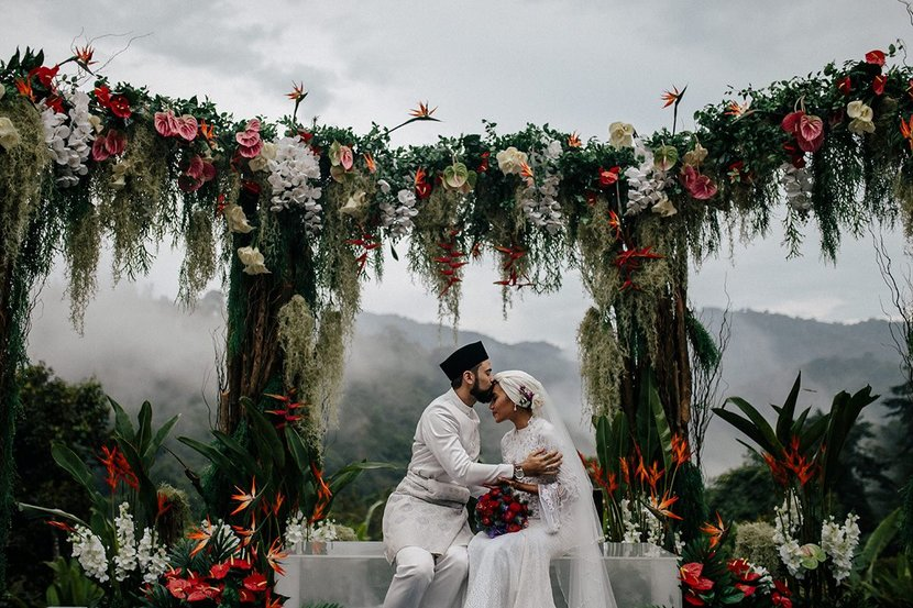 Singer-Songwriter Yuna & Filmmaker Adam Sinclair's Wedding in the Malaysian Jungle. Harper's Bazaar US.