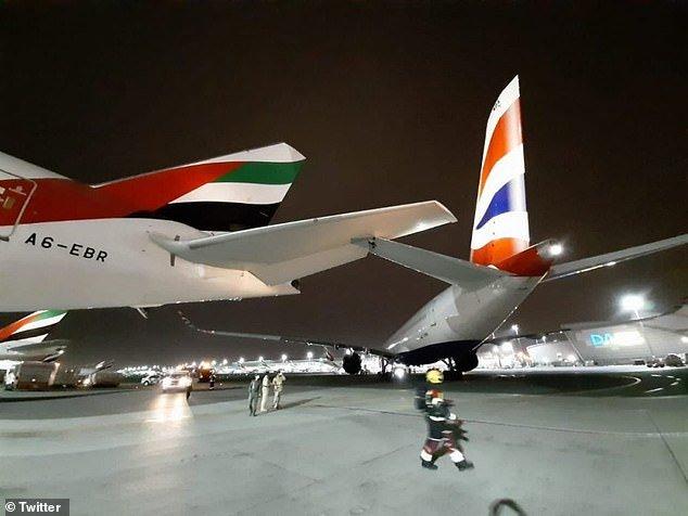 Emirates airline, British airways, Dubai Airport