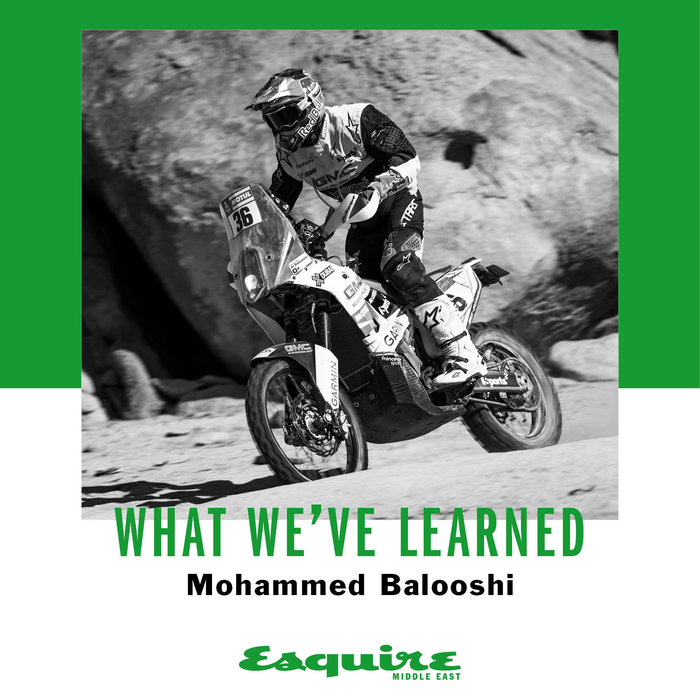 Mohammed Balooshi, Interview, Esquire, What I've learned, Red Bull
