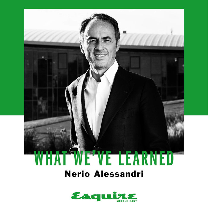 Nerio Alessandri, Technogym, Interview, Esquire, What I've learned, Lessons, Advice