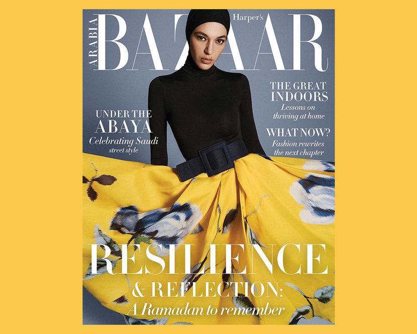 Harper's Bazaar Arabia, New cover, Covid-19, Coronavirus, New issue