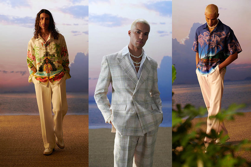 Looks from Casablanca's Spring/Summer 2021 collection