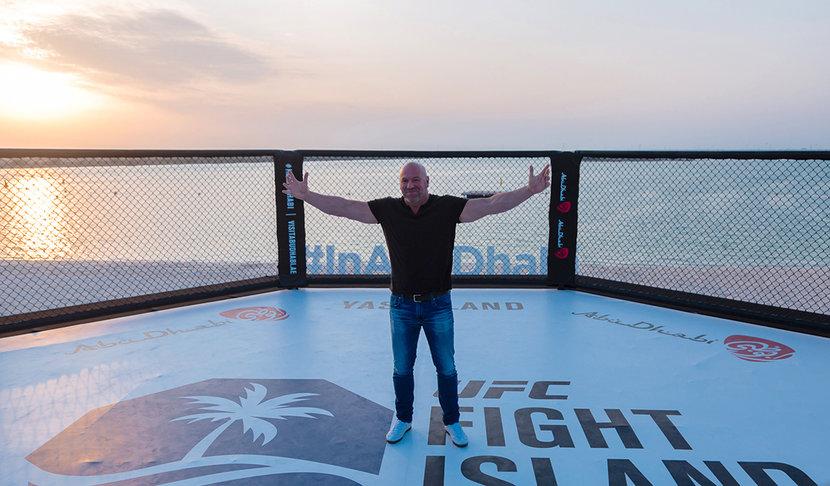 Dana White, UFC, Abu dhabi, UAE, Fight Island, 2020