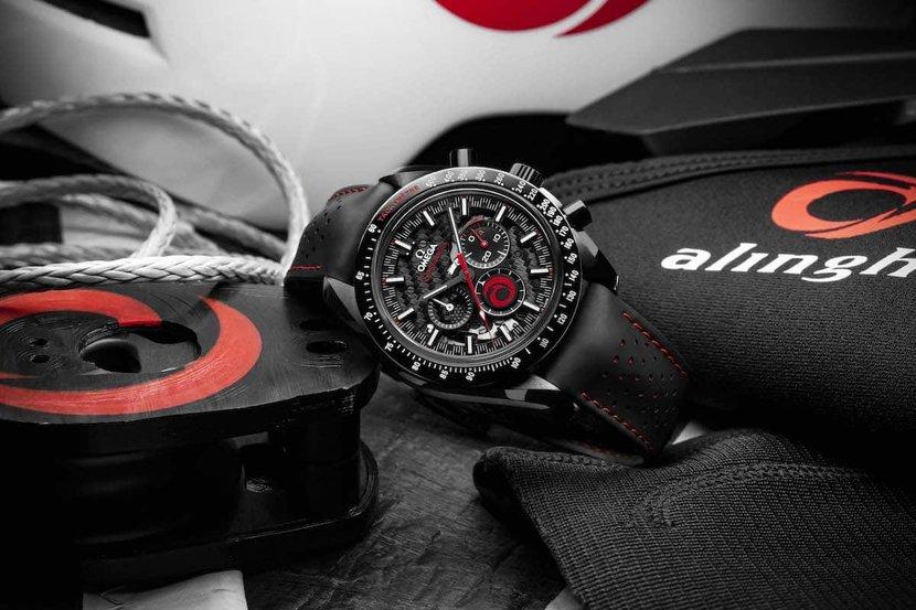Omega, Omega Speedmaster Dark Side of the Moon Alinghi, Yacht, Racing team