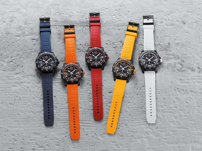 The Endurance Pro Collection with colorful rubber straps