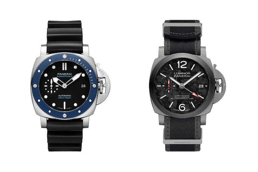 Panerai's new Submersible (left) and Luminor (right)