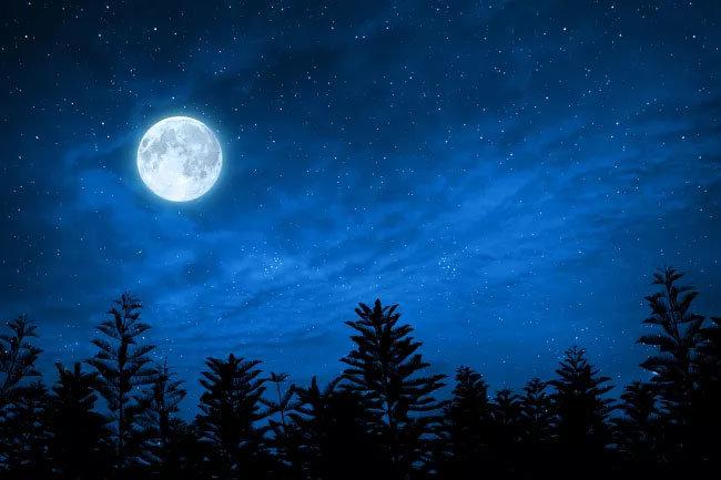 Moon, UAE, Astronomy, Blue moon, Science
