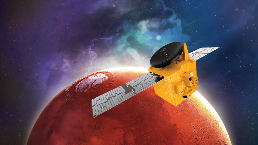 The Hope Probe set to arrive on Mars as part of the Emirates Mars Mission on February 9.