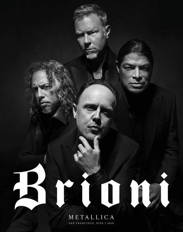 Brioni Metallica, Metallica, Brioni, Metallica tuxedo, Metallica fashion brand, Tattoos and tuxedos