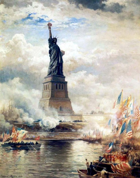 Statue of Liberty, Lady Liberty, New york, Frédéric Auguste Bartholdi, France, US, Declaration of Independence