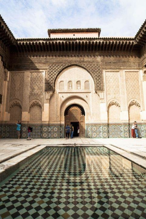 MARRAKESH, MOROCCO - Located at the foot of the Atlas Mountains, Marrakesh has changed little since the Middle Ages. You could spend days here wandering around maze-like alleyways discovering the city's colorful souks, palaces and gardens.