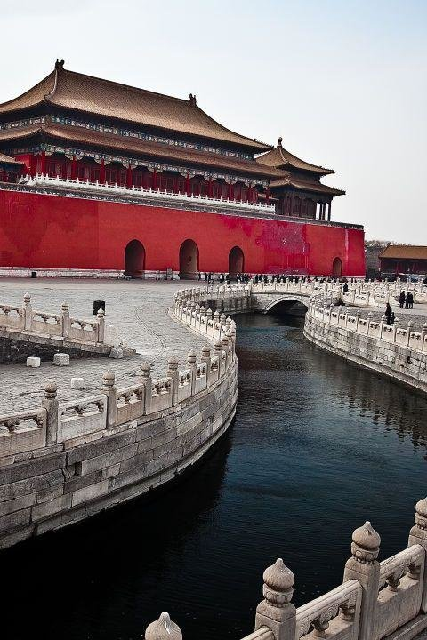 FORBIDDEN CITY, BEIJING, CHINA - Located in the center of Beijing, the Forbidden City was the imperial palace of China's emperors for five centuries and is one of the most beautifully preserved examples of ancient Chinese architecture.