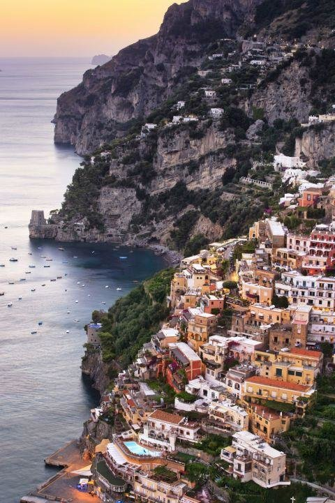 AMALFI COAST, ITALY - There are so many beautiful places in Italy it's hard to pick just one—but the Amalfi Coast's idyllic hillside towns, like Positano, bump it to the top of our must-see list.