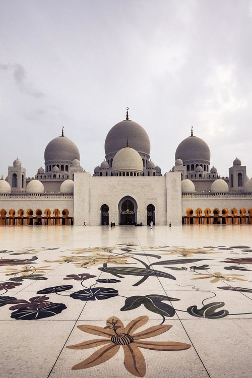 SHEIKH ZAYED GRAND MOSQUE, ABU DHABI - With 82 domes and enough room to accommodate 40,000 worshippers, the Sheikh Zayed Grand Mosque is not only one of the largest mosques in the world but also one of the most beautiful with a marble courtyard featuring mosaics of flowers native to the Middle East.