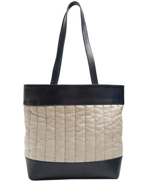 HECHO - Barragan Medium Linen and Leather Tote - The combination of leather and linen panelling elevates a plain tote shape into something luxe. AED1,500. matchesfashion.com