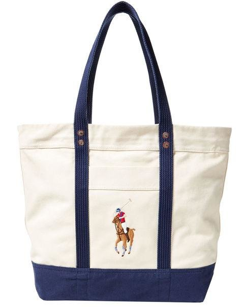 POLO RALPH LAUREN - Canvas Big Pony Tote - This Ralph Lauren bag is an easy choice any time you need a bag. AED380. ralphlauren.com