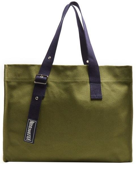 VILEBREQUIN - Bagsu Cotton Canvas Tote - The dark green hue on this canvas bag will hide sand and dirt stains a bit better than a cream colour. AED570. matchesfashion.com