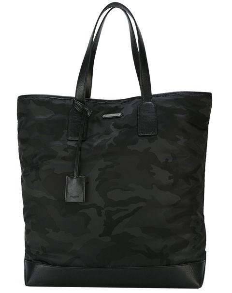 Saint Laurent - Camouflage Tote - Not into casual beach bags? This Saint Laurent looks right just about anywhere. AED4,000. farfetch.com