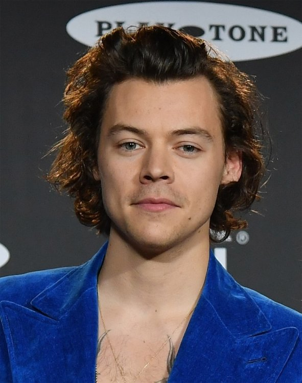 Harry Styles poses in the press room during the 2019 Rock  Roll Hall Of Fame Induction Ceremony at Barclays Center on March 29 2019 in New York City Photo by Angela Weiss  AFP
