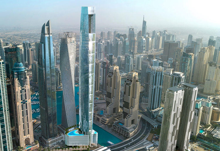 This Dubai Marina Hotel Will Become World S Tallest When It Opens In 2023 Esquire Middle East