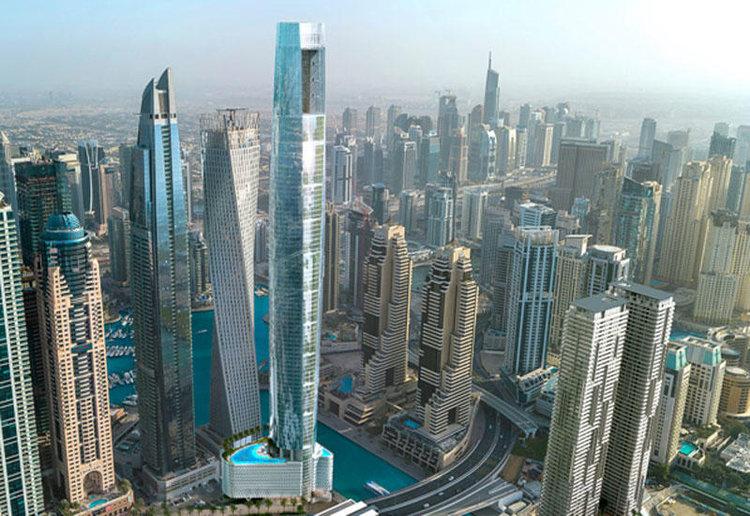 Dubai Marina, Dubai, Tallest hotel