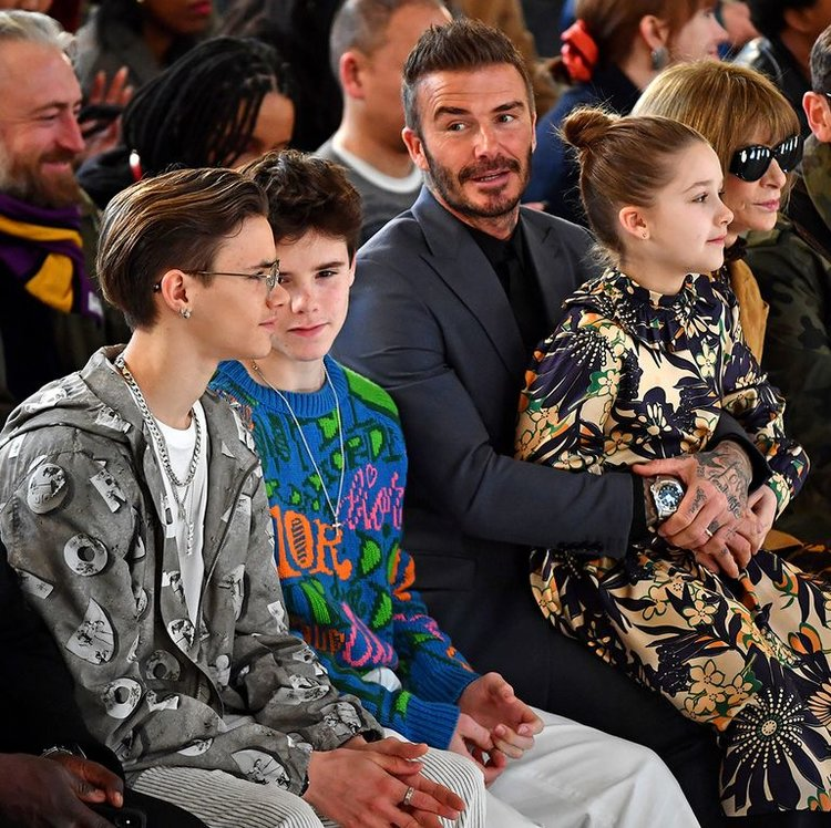 Beckhams, David Beckham, Victoria Beckham, London Fashion Week